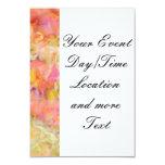 soft floral,roses (I) 9 Cm X 13 Cm Invitation Card