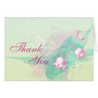 Soft Floral Thank You Card