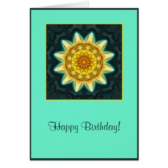 Soft Flower Mandala Birthday Card