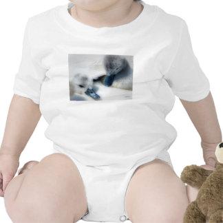 Soft & Fluffy Cygnets-Babywear T Shirts