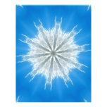 Soft Fluffy Snowflake Kaleidoscope Personalized Flyer