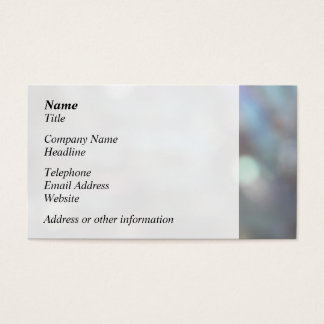 Soft Focus Abstract Pattern. Business Card
