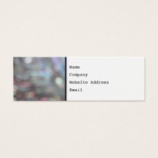 Soft Focus Abstract Pattern. Mini Business Card
