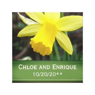 Soft Focus Daffodil Personalized Wedding Canvas Print