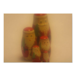 Soft Focus Lens Photo of Father Xmas Invitation