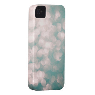 Soft Focus Lights Glitter Blue Green iphone cover