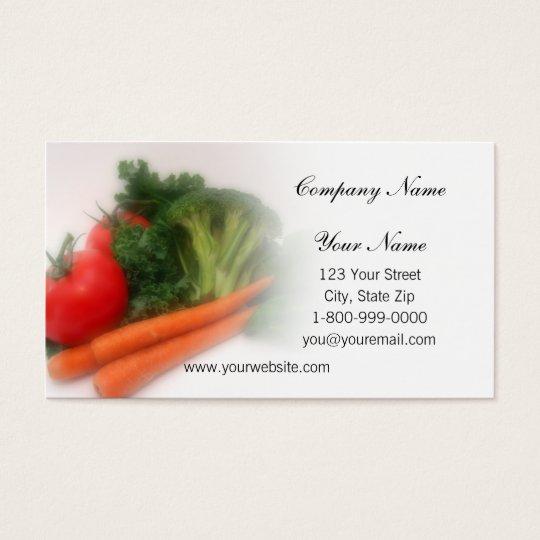 Soft Focus Produce Business Cards