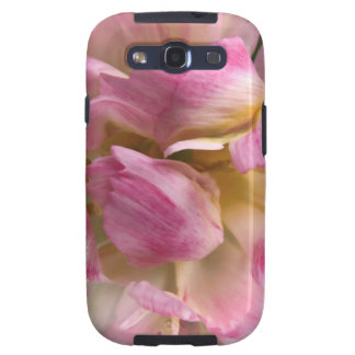 Soft Frilly Pink & White Tulip, Pretty Flowers Galaxy SIII Cases