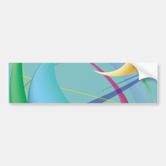 Soft Gentle Abstract Swirls Bumper Stickers