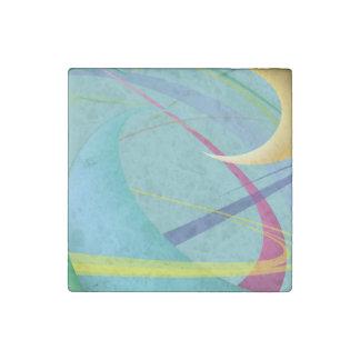 Soft Gentle Abstract Swirls Stone Magnet