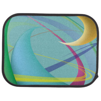 Soft Gentle Abstract Swirls Floor Mat