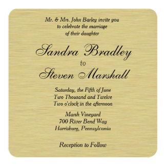 Soft Gold Wedding 13 Cm X 13 Cm Square Invitation Card