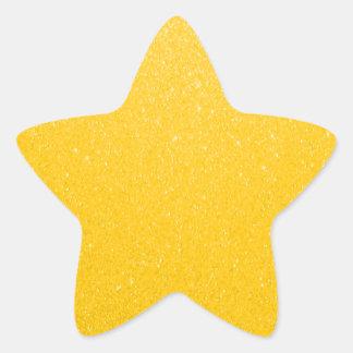 Soft Golden Yellow Glitter Star Sticker