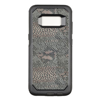 Soft Gray and Pink Snake Skin OtterBox Commuter Samsung Galaxy S8 Case