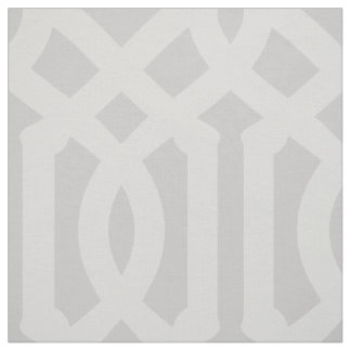 Soft Gray Trellis Large Scale Fabric