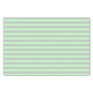 Soft Green and Silver Stripes Tissue Paper