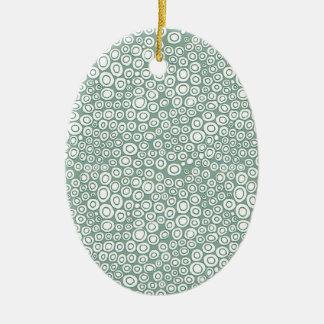 Soft Green Circles Pattern Ornament