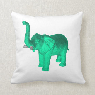 Soft Green Elephant Cushion