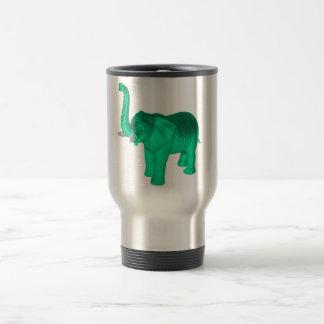 Soft Green Elephant Stainless Steel Travel Mug