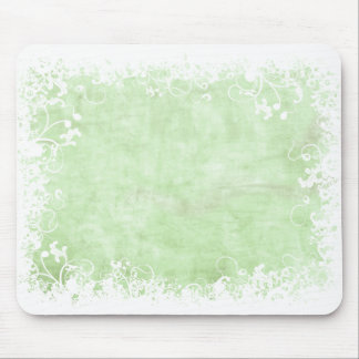 Soft Green Floral mousepad