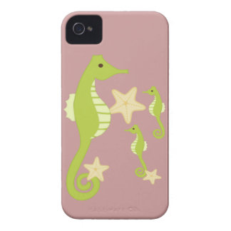 Soft Green Sea Horses Case-Mate iPhone 4 Case