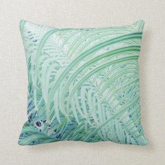 Soft Green Stylish Plant Print Throw Pillow
