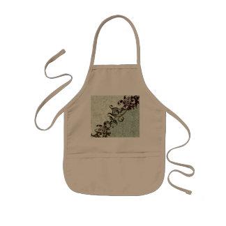 Soft green vintage design kids apron