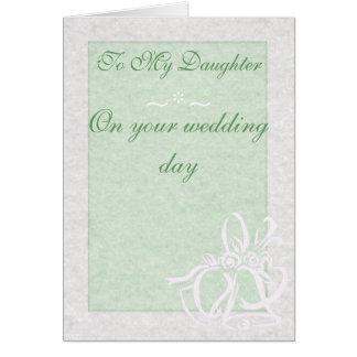 Soft Green Wedding Card