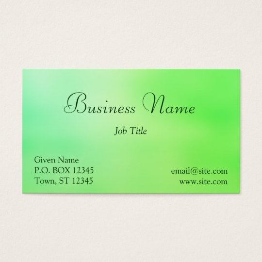 Soft Greens Business Card
