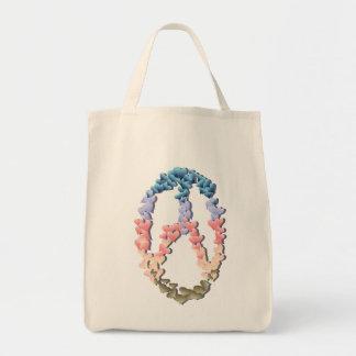 Soft Heart Peace Symbol shadowed Bag