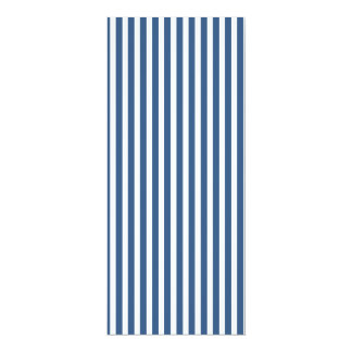 Soft Iris Blue and White Cabana Stripe Pattern 10 Cm X 24 Cm Invitation Card