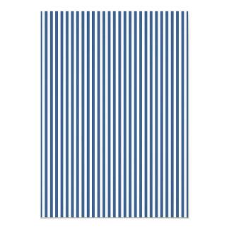 Soft Iris Blue and White Cabana Stripe Pattern 13 Cm X 18 Cm Invitation Card