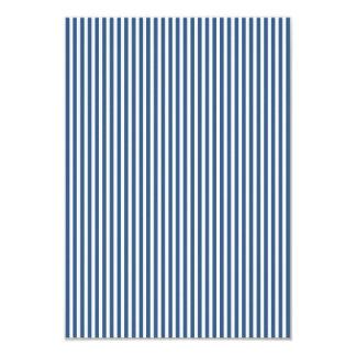Soft Iris Blue and White Cabana Stripe Pattern 9 Cm X 13 Cm Invitation Card