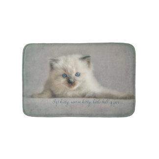 Soft kitty, ragdoll bath mat