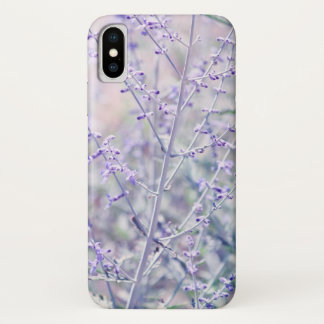 Soft Lavender Flowers iPhone X Case