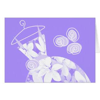 Soft Leaves Purple 'Bridesmaid' card horizontal
