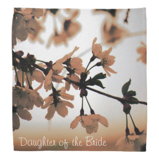 Soft Light Peach DAUGHTER OF THE BRIDE Head Kerchief