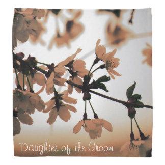 Soft Light Peach DAUGHTER OF THE GROOM Head Kerchief
