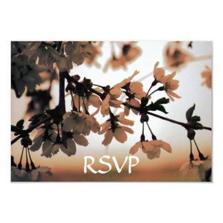 Soft Light Peach RSVP Cards 9 Cm X 13 Cm Invitation Card