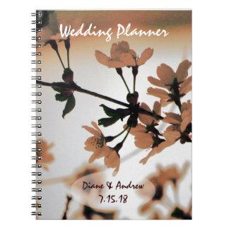 Soft Light Peach Wedding Planner Spiral Note Book