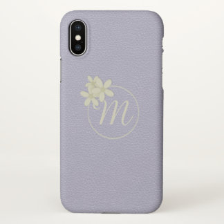 Soft Lilac Faux Leather Effect iPhone X Case