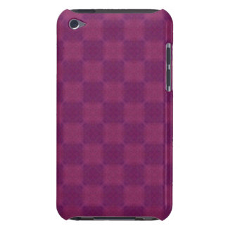 Soft Magenta Checks Barely There iPod Cases