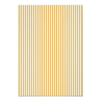 Soft Marigold Yellow Cabana Stripe 9 Cm X 13 Cm Invitation Card