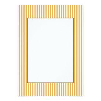 Soft Marigold Yellow Cabana Stripe 13 Cm X 18 Cm Invitation Card