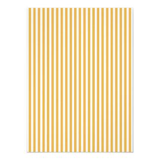 Soft Marigold Yellow Cabana Stripe 14 Cm X 19 Cm Invitation Card
