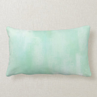 Soft Mint Abstract Pillow