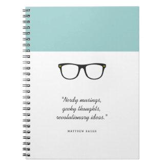 Soft Mint Glasses Notebooks