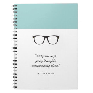 Soft Mint Wayfarer Glasses Notebooks