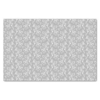 Soft Modern White&Grey Named Damask Tissue Paper