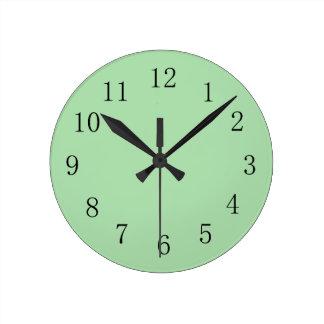 Soft Moss Green Color Wall Clock